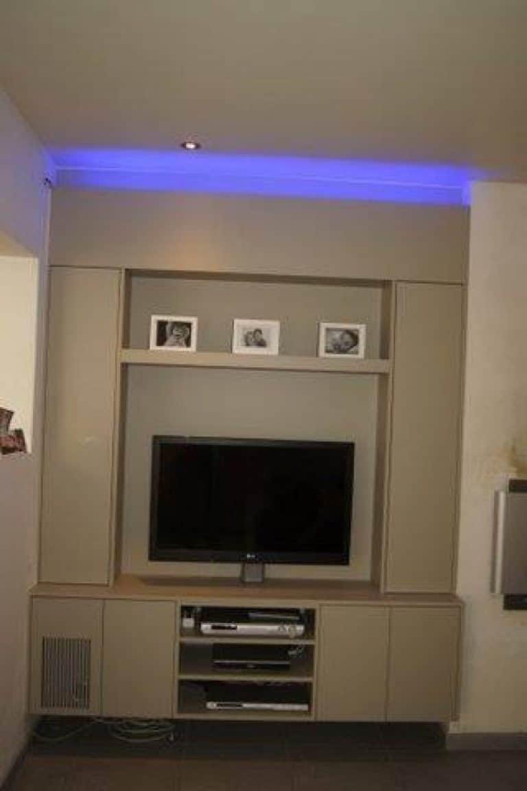 Deboosere interieurinrichting | TV meubel en kast rond haard image 2