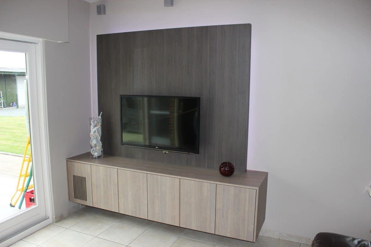 tv wand deboosere interieurinrichting schrijnwerk op maat. Black Bedroom Furniture Sets. Home Design Ideas