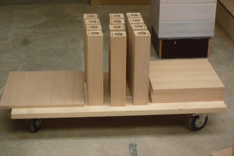 Deboosere interieurinrichting | Los meubel in eik fineer image 14
